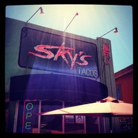 Photo taken at Sky's Gourmet Tacos by W G. on 9/15/2012