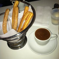 Photo taken at Churros Calientes by Helen C. on 4/1/2012