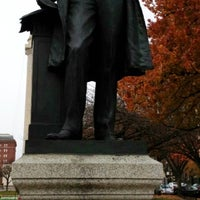 Photo taken at Severn Teackle Wallis Statue by AJ T. on 11/25/2012
