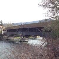 Photo taken at Holzbrücke Turgi by Konstantin P. on 3/29/2014