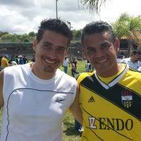 Photo taken at Canchas Futbol Hda. Dolores by Beckham Z. on 10/2/2014