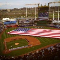 Photo taken at Kauffman Stadium by Andrea C. on 4/8/2013