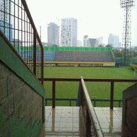 Photo taken at Stadion Lebak Bulus by Benhard m. on 12/9/2013