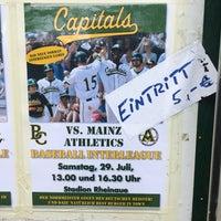 Das Foto wurde bei Baseballstadion Rheinaue von Steffinho am 7/29/2017 aufgenommen