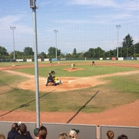 Photo taken at Mainz Athletics Ballpark by Steffinho on 8/8/2015
