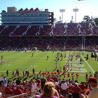 Photo taken at Stanford Stadium by Sneha B. on 9/15/2012