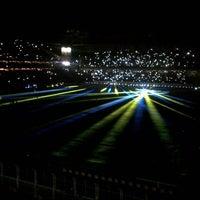 Photo taken at Ülker Stadyumu Fenerbahçe Şükrü Saracoğlu Spor Kompleksi by Melih B. on 7/24/2013