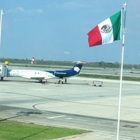 Photo taken at Aeropuerto Internacional de Mérida Manuel Crecencio Rejón (MID) by Pablo M. on 3/31/2013