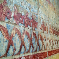 Photo taken at Mortuary Temple of Hatshepsut by Elena K. on 1/4/2013