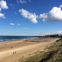 Photo taken at Cullercoats Beach by Meri W. on 4/30/2016