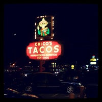 Photo taken at Chico's Tacos by Tiffany S. on 9/21/2012