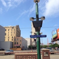 Photo taken at Warehouse District/Hennepin Ave LRT Station by Janelle N. on 6/28/2014