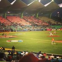 Photo taken at Estadio Hiram Bithorn by Dan H. on 3/9/2013