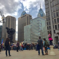 Photo taken at Thomas Paine Plaza by Calvin R. on 2/25/2017