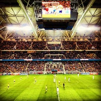 Photo taken at Friends Arena by Fredrik S. on 11/14/2012