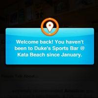 Photo taken at Duke's Sports Bar @ Kata Beach by Fredrik S. on 12/23/2012