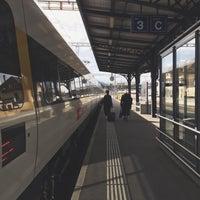 Photo taken at Gare de Delémont by Jonathan M. on 10/5/2015