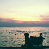 Photo taken at Bang Saen Beach by Apichat C. on 12/31/2012