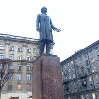 Photo taken at Памятник Добролюбову by Aleks C. on 11/6/2014