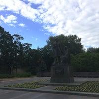 Photo taken at Памятник «Пушкин и крестьянка» by Andrey K. on 6/21/2014