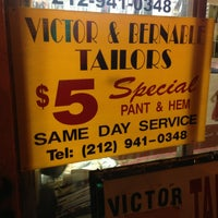 Photo taken at Victor & Bernabe Tailors by Ryan R. on 12/17/2012