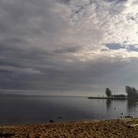 Photo taken at Пляж Сайнаволок by Alina M. on 9/6/2014