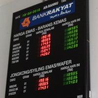 Photo taken at Bank Rakyat Dungun by Cgu Mohd Azhar K. on 2/13/2013