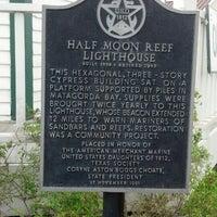 Photo taken at Half Moon Reef Lighthouse by asacredrebel on 10/28/2013