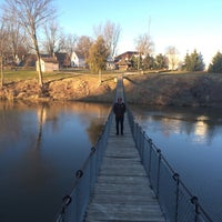 Photo taken at Croswell Swinging Bridge by Lindsay M. on 3/11/2016