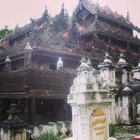 Photo taken at Golden Palace (Shwenandaw Kyaung) Monestary by Rahmad D. on 10/30/2013