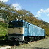 Photo taken at 電気機関車EF64 18 by hiro m. on 4/23/2017