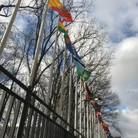 Photo taken at Dag Hammarskjöld Plaza by Steve J. on 3/29/2017