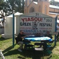 Photo taken at Yiasou Greek Festival by Omar-Jeffrey D. on 9/15/2012