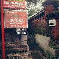Photo taken at Babi Guling Ibu Oka by Elvira D. on 1/19/2013