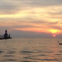 Photo taken at St. Joseph North Pier (at Tiscornia Park) by Michael G. on 6/28/2014