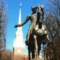 Foto tirada no(a) Paul Revere Statue por Darius M. em 4/12/2015