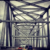 Photo taken at Chesapeake Bay Bridge by annie c. on 10/28/2012