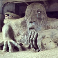 Photo taken at The Fremont Troll by Jon S. on 10/11/2012