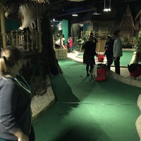 Photo taken at Jungle Rumble Adventure Golf by Christopher T. on 10/28/2015
