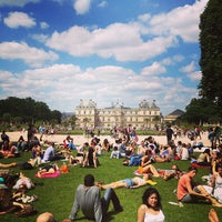 Photo taken at Luxembourg Garden by Adam G. on 6/30/2013