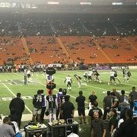Photo taken at Aloha Stadium - Section KK - Yellow by Finem L. on 10/1/2017