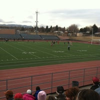 Photo taken at Garry Berry Stadium by Naomi T. on 3/21/2013
