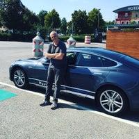 Photo taken at Tesla Supercharger Schweitenkirchen by Tom H. on 9/10/2016