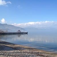 Photo taken at Eğirdir Plaj by Tunç A. on 1/17/2014