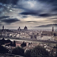 Photo taken at Piazzale Michelangelo by Stefano T. on 12/10/2012
