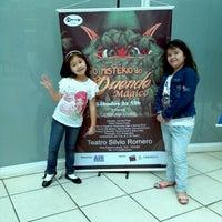 Photo taken at Teatro Silvio Romero by Edson Hiroyuki M. on 11/10/2012