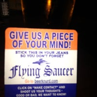 Photo taken at Flying Saucer by Kevin F. on 9/25/2012