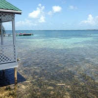 Photo taken at Tobacco Caye Lodge by Shay M. on 6/13/2015