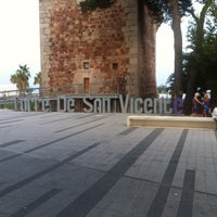 Photo taken at Playa Torre Sant Vicent by Voro P. on 8/6/2013