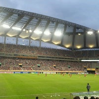 Photo taken at Seoul Worldcup Stadium by Celinna S. on 7/20/2013